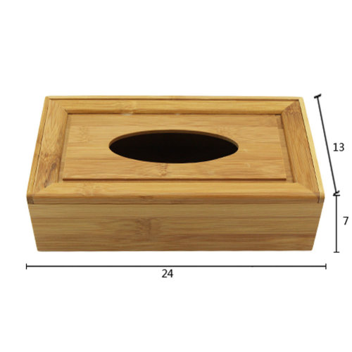 Simple Style Bamboo Toilet Paper Tissue Paper Holder/Tissue Box (24*13*7cm)