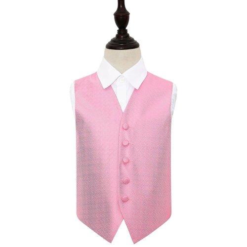 Baby Pink Greek Key Wedding Waistcoat for Boys 30'