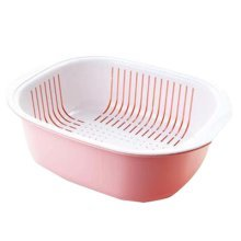 Multifunction Living Room Fruit-Plate Kitchen Vegetable Plate Drain Basket #01