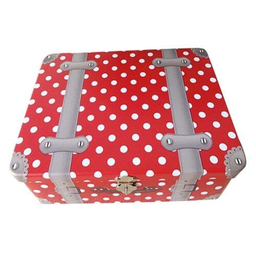 New Style Iron Box Password Lock Box Desktop Storage Cosmetics Box-Red