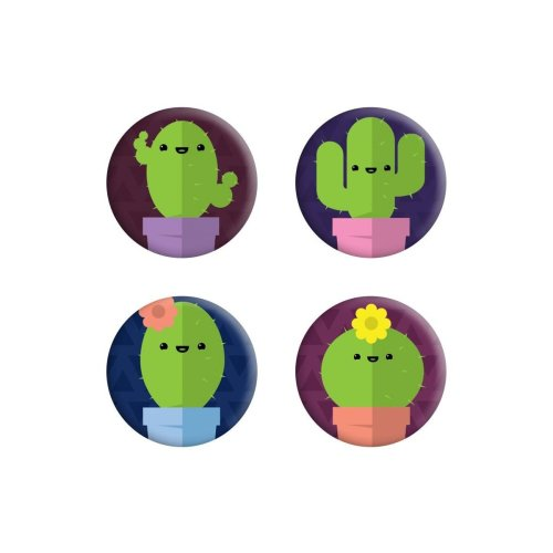Grindstore Cute Cacti Badge Pack
