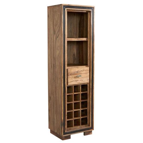 Castalla Sheesham Wine Bookcase