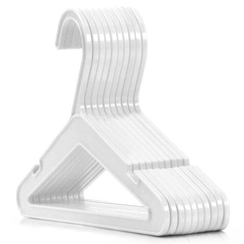 Hangerworld™ 24 Toddler 26cm White Plastic Top Hangers Clothes Coat