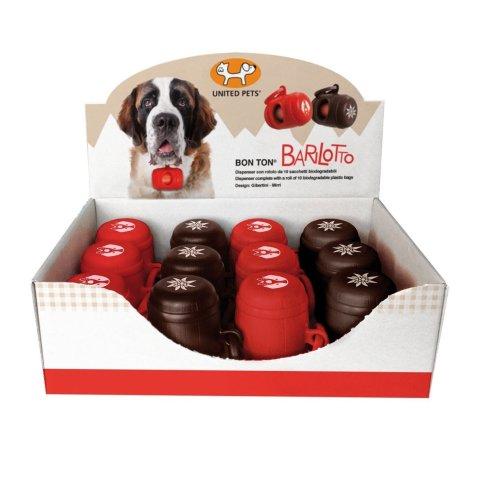 United Pets Bon Ton Barrel Dog Poo Plastic Bag Dispenser Display Box Of 12