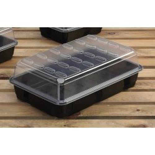 Large Planting Propagator -  propagator budget large garland black greenhouse plants tray lid x