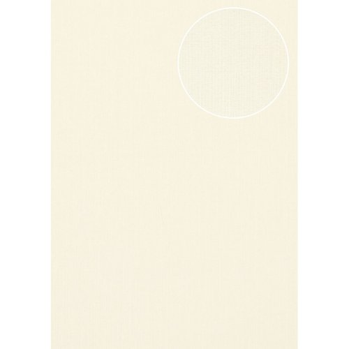 Atlas COL-497-5 Unicolour wallpaper shimmering white light-ivory 5.33 sqm