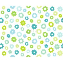 fabric flowers lime green - 184912