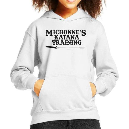 Michonnes Katana Training Walking Dead Kid's Hooded Sweatshirt