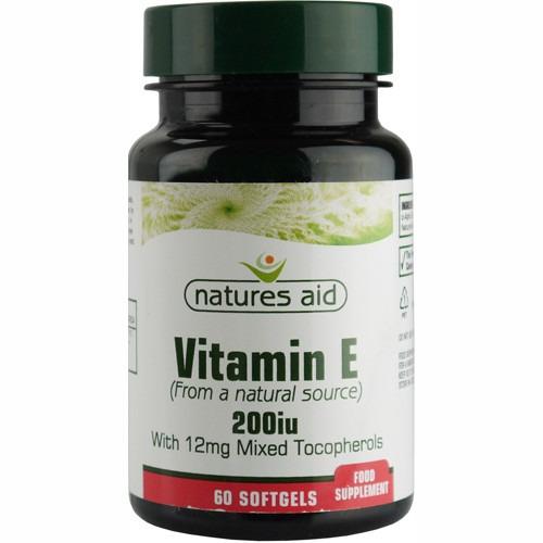 Natures Aid Vitamin E 200iu 60 Capsules