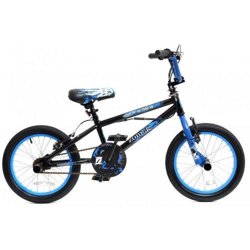 "Zombie Outbreak Boys Kids Freestyle Stunt BMX Bike 16"" Wheel Gyro 360 Stunt Pegs"