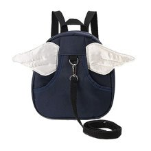 1-3years old children shoulder small bag and cute cartoon backpack bag.Navy Blue