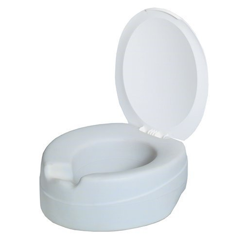 Ultimate Comfort Soft Foam Raised Toilet Seat Easy Fix 4 Inch With or Without Lid