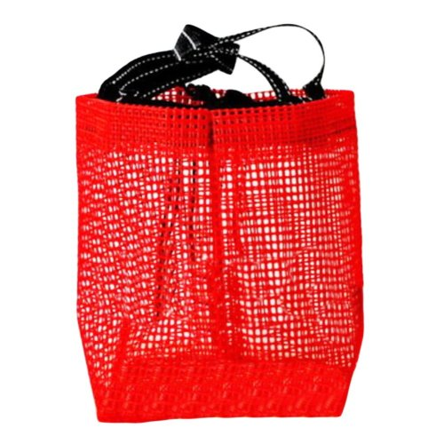 Hiking Quick Dry Mesh Shower Accessories Bag Breathable Bath Tote-Red
