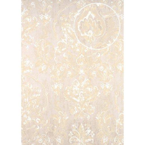 ATLAS CLA-602-6 Baroque wallpaper shimmering beige grey beige 5.33 sqm