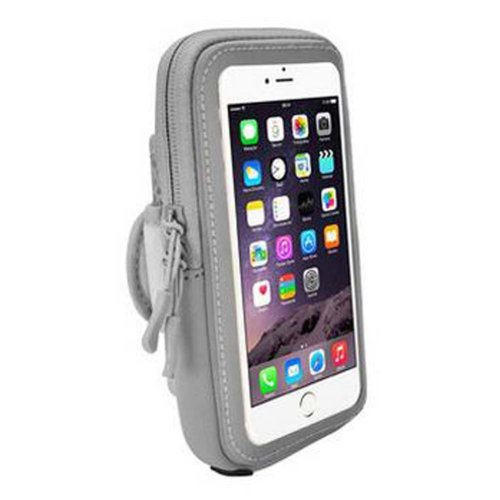 [Grey] Outdoor Sports Armband Wrist Pack Cell Phone Armband Fashion Arm Package