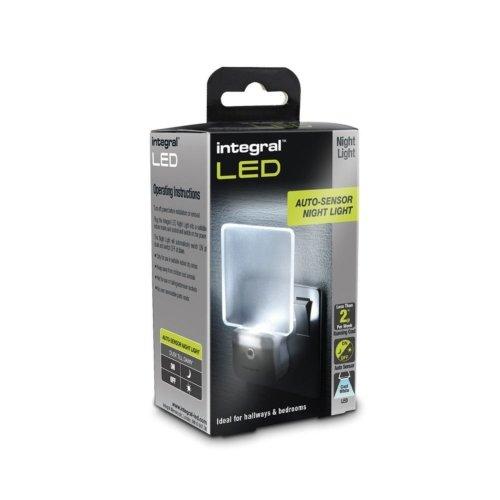 Integral Plug In LED Night Light Auto Sensor Super Low Energy