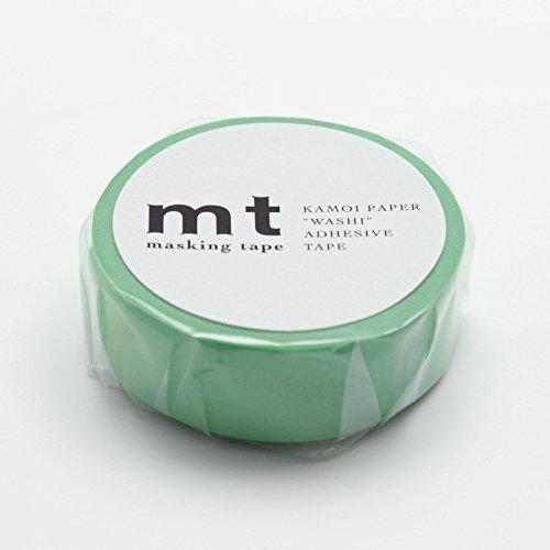 MT Solids Washi Paper Masking Tape 3 5 x 33 Wakamidori Verdant Green MT01P190