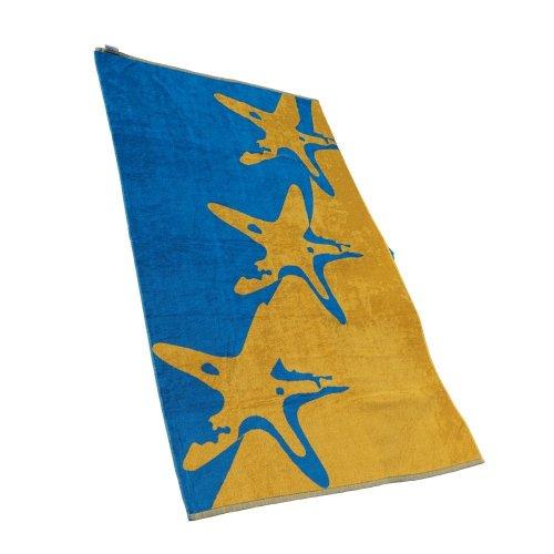 outdoorer XXL beach towel / Starfish beach towel, cotton, very soft, ideal as a bath towel or gym towel