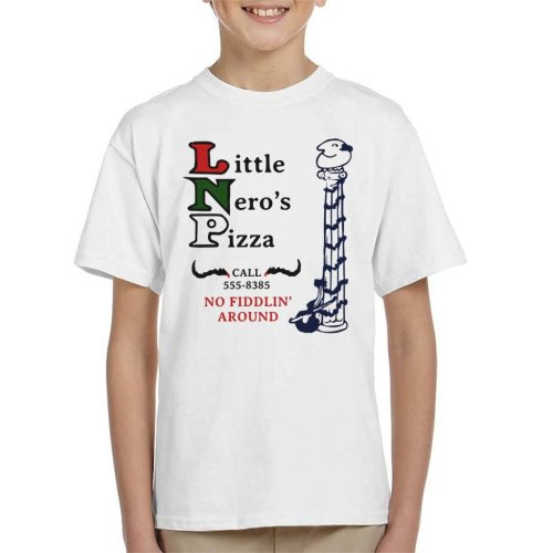 Little Neros Pizza Home Alone Kid's T-Shirt