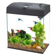 Fish R Fun, Rectangular Fish Tank High Top 28L Black