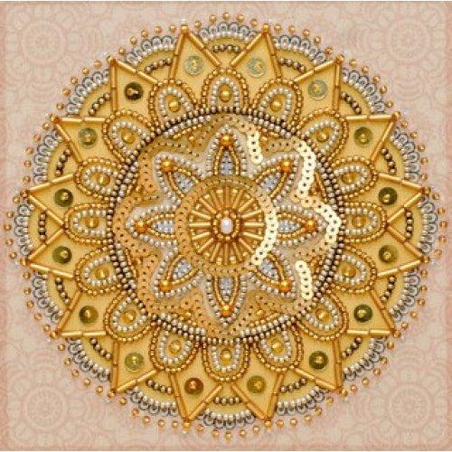 VDV Bead Embroidery Kit - Mandala - Wealth - beads & sequins