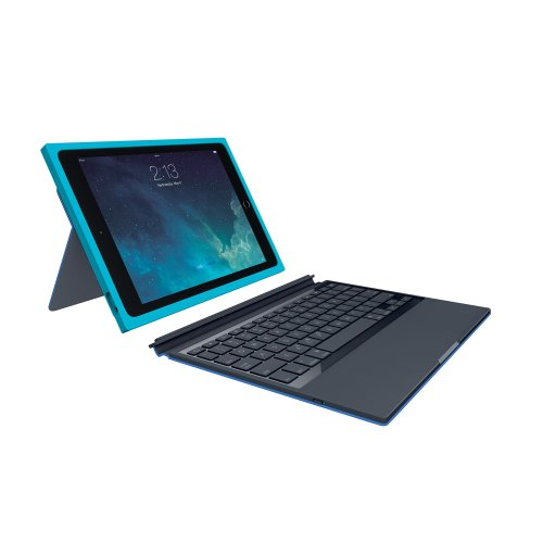Logitech BLOK Protective Keyboard Case for iPad Air 2 - Teal/Blue