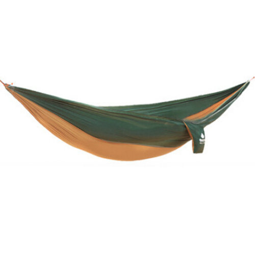 Multifunctional Camping Hammock Hanging Bed Double Size[2.6*1.3m]DarkGreen/Camel