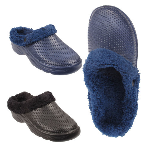Sweet Walk Lined Fur Clogs Sandals Mens CQWrdexBo