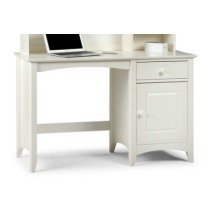 Treck White Stone Desk - 1 Door 1 Drawer - Fully Assembled Option Flat Pack No Chair Hutch(+149.99)