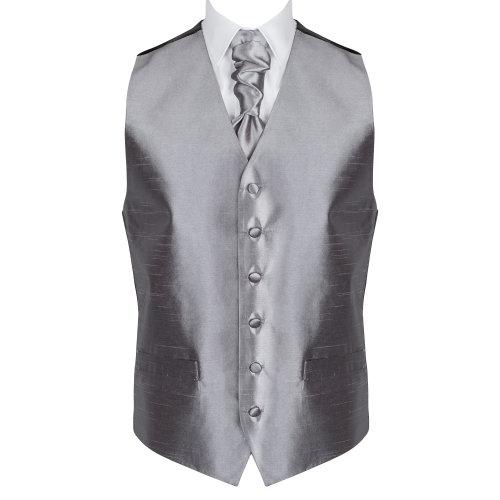 Dark Grey Shantung Wedding Waistcoat #AB-WW1005/9 Men's XXL - 48''