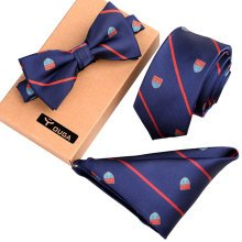 Fashionable Formal/Informal Neck Ties Ties Set, Necktie/Bow Tie/Pocket Square