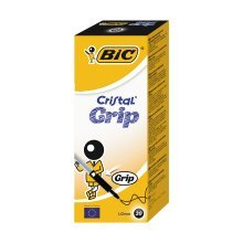 Bic Cristal Grip Pen Black (pack of 20)