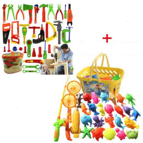 Educational Toys Pretend & Play Toys Children Repair Kit&Fishing Tool