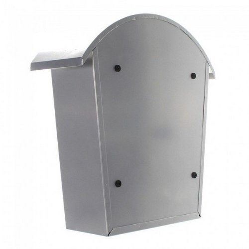 Traditional Post Box Steel Wall Mounted Silver Rottner Jesolo