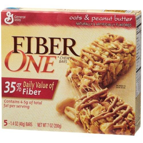Fiber 1 Granola Bars, Oats & Peanut, 7 oz