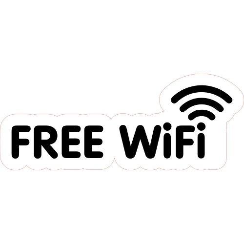 FREE WiFi Design 1 Shop Business Trade Trader Cafe Restaurant Sticker Laminated.