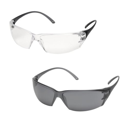 Delta Plus MILO Polycarbonate Lens Safety Spectacles / Glasses (Clear or Smoke)