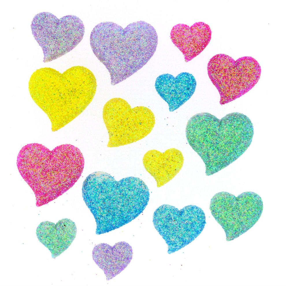 Day Dream - Heart Shaped Novelty Craft Buttons / Embellishments by Dress It  Up