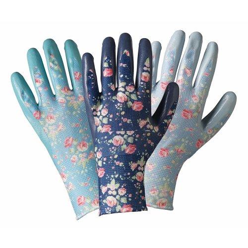 Julie Dodsworth Flower Girl Seed & Weed 3 Pack Gloves Medium by Briers