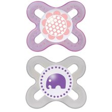 MAM 0-2 Months Start Soothers (Pink) (2-Pack)