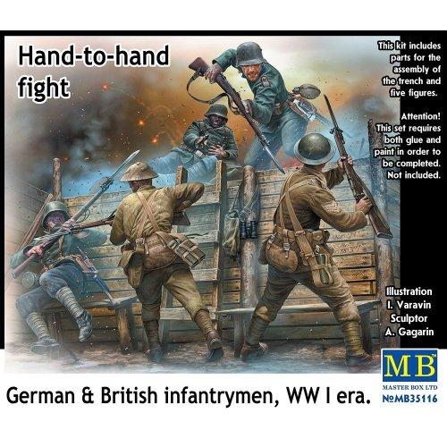 Mas35116 - Masterbox 1:35 - Hand to Hand Fight, German and British Infa