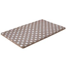 Absorbent Non-slip Door Mat Entry Mats Doormat Bathroom Rug, Dots, Light Coffee