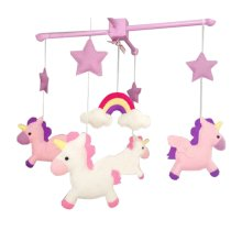 DIY Nursery-Mobiles For Crib, Pink Cot Mobile, Need Sewing
