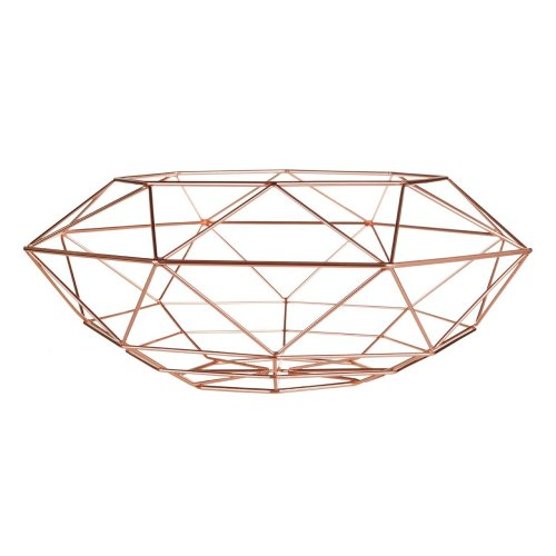Vertex Fruit Basket, Geometric Style - Copper