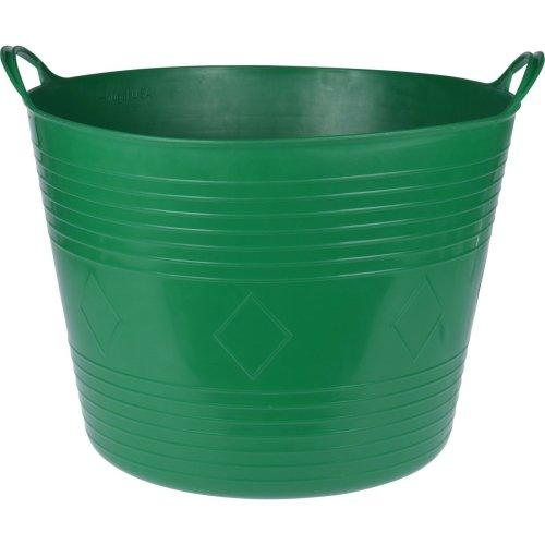 Koopp 43 Litre Round Large Flexi Bucket Log Basket Strong With Handles Green