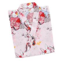Japanese Style Women Thin Cotton Bathrobe Pajamas Kimono Skirt Gown-D06