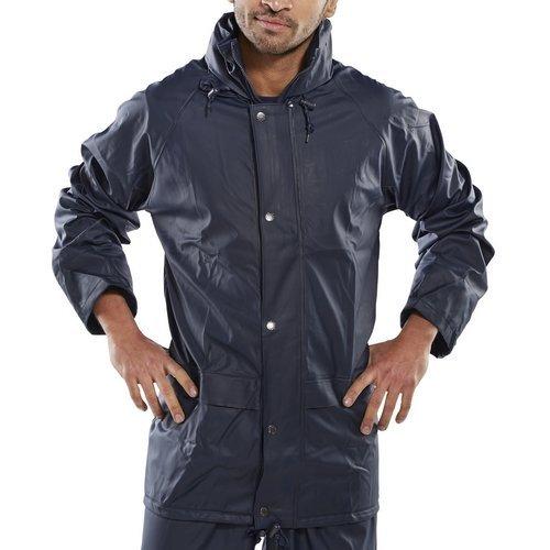 Click SBDJNL Waterproof Jacket With Concealed Hood Navy Blue Large