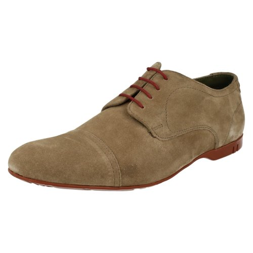 Mens Base London Smart/Casual Shoes Piano Taupe Suede 40