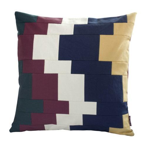 [Quicksand] Handmade Canvas Decorative Pillow Unique Grid Cushion 48cm