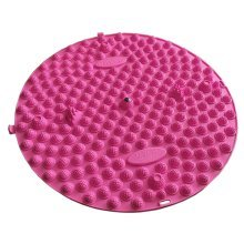 Round Foot Massager Therapy Mat Foot Massage Pad Shiatsu Sheet [Pink]